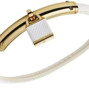 Michael Kors White Heritage Padlock Bracelet